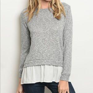 Casual layered sweater shirt